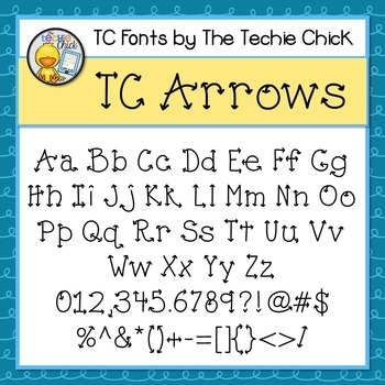 TC Arrows font - Personal Use