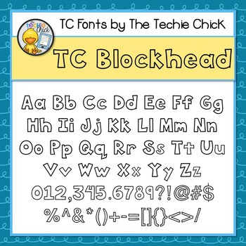 TC Blockhead font - Personal Use