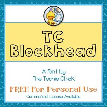 TC Blockhead font - Personal Use