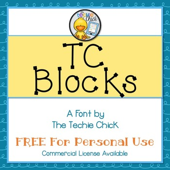 TC Blocks font - Personal Use