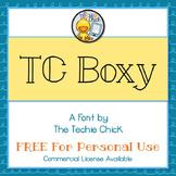 TC Boxy font - Personal Use