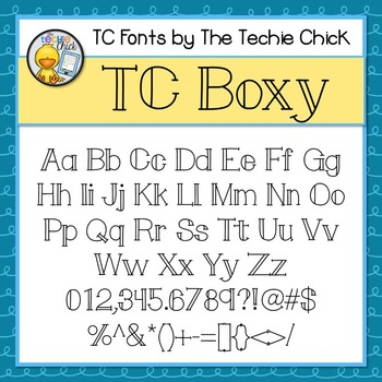 TC Boxy font - Personal Use