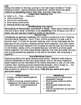 TC Building Good Reading Habits Grade 1 BEND 1 BUNDLE (Sessions 1-7)
