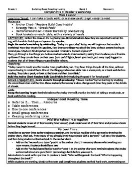 TC Building Good Reading Habits Grade 1 BEND 1 BUNDLE (Ses