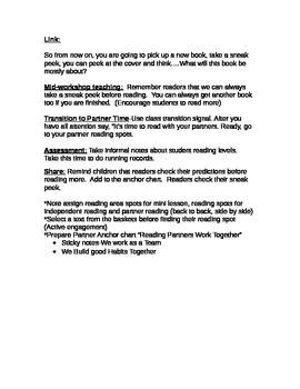 TC Building Good Reading Habits-Lesson 1 Readers Take a Sneak Peek