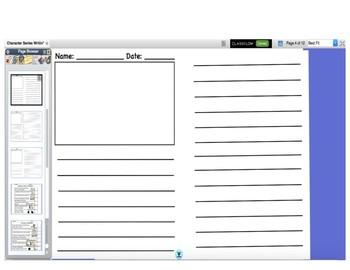 TC Character Series Writing Paper Original flipchart Promethean Activeinspire