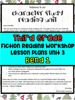 TC Character Studies Bend 1 Lesson Plans 3rd Grade
