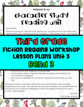 TC Character Studies Third Grade Bend 3 Lesson Plans BUNDLED