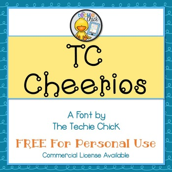 TC Cheerios font - Personal Use