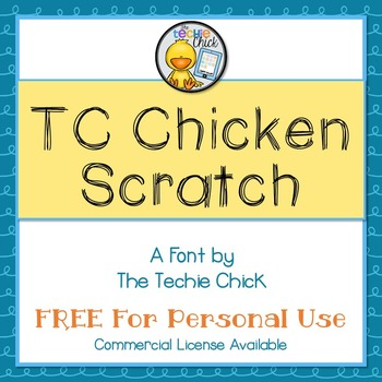TC Chicken Scratch font - Personal Use