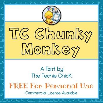 TC Chunky Monkey font - Personal Use