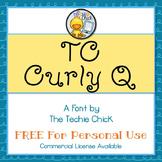 TC Curly Q font - Personal Use