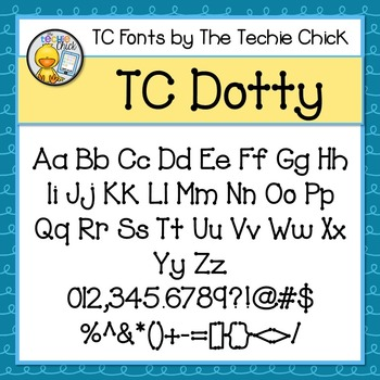 TC Dotty font - Personal Use