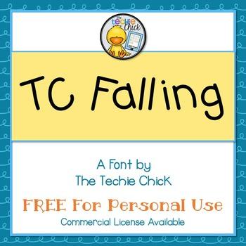 TC Falling font - Personal Use