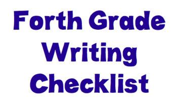 TC Fourth Grade Narrative Writing Checklist MODIFIED EDITABLE
