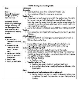 TC Grade 1 Unit 1 (Building Good Reading Habits) Session 3