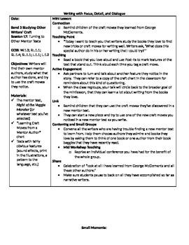 TC Grade 1 Unit 1 (Small Moments) Session 16-21