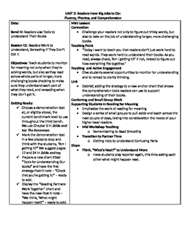 TC Grade 1 Unit 3 Readers Have Big Jobs to Do (Session 12-15)