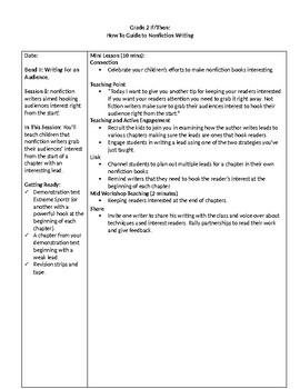 TC Grade 2 If/Then Unit The How-To Guide for Nonfiction Writing Bend II