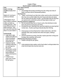 TC Grade 2 If/Then Unit The How-To Guide for Nonfiction Writing Bend III