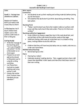 TC Grade 2 Unit 1 Reading Growth Spurt Lessons 13-15