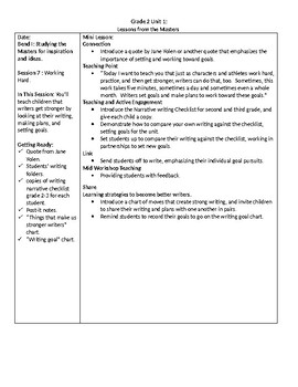 TC Grade 2 Unit 1 Writing Lessons From the Masters Lesson 7