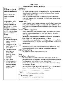 TC Grade 2 Unit 2 Becoming Experts: Reading Nonfiction Lessons 1-3