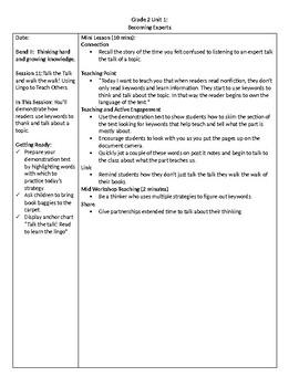 TC Grade 2 Unit 2 Becoming Experts: Reading Nonfiction Lessons 10-11