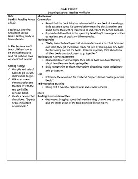 TC Grade 2 Unit 2 Becoming Experts: Reading Nonfiction Lessons 12-15