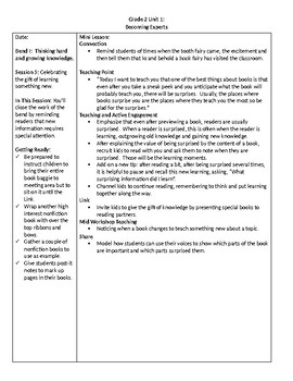 TC Grade 2 Unit 2 Becoming Experts: Reading Nonfiction Lessons 4-5