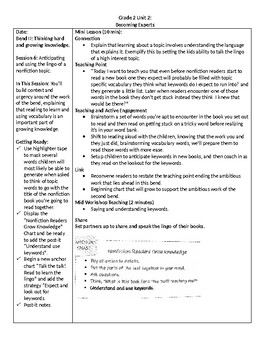 TC Grade 2 Unit 2 Becoming Experts: Reading Nonfiction Lessons 6-7