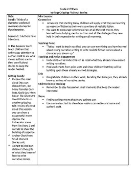 TC Grade 2 Writing If/Then Writing Gripping Fictional Stories Lessons 1-3