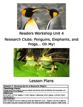 TC Grade 3 Readers Workshop- Research Clubs: Penguins, Ele