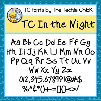TC In the Night font - Personal Use