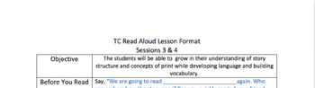 TC Inspired Read Aloud Lesson Plan Template