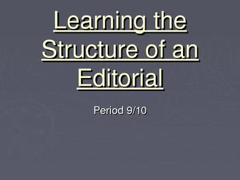 TC Journalism Unit: Constructing A News Editorial- Middle School Grade Level