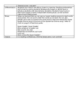 TC Kindergarten Reading Lesson Plans BUNDLE - 7 UNITS - 123 LESSON PLANS!!
