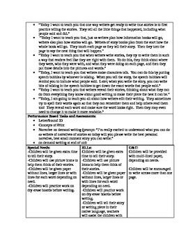 TC Kindergarten Writing Curriculum Maps Unit 1-7