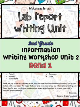 TC Lab Reports Informational Writing Workshop Lesson Plans Bend 1 Grade 1