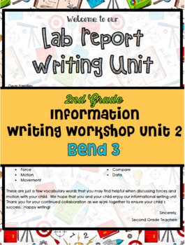 Informational Writing Lesson Plans Bend 3 Grade 2