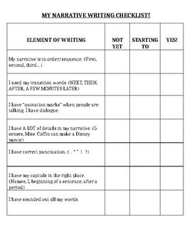 TC Narrative Checklist