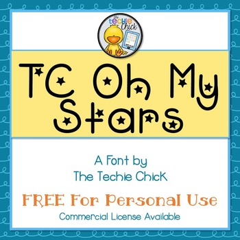TC Oh My Stars font - Personal Use