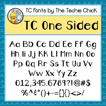TC One Sided font - Personal Use
