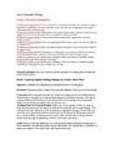 TC Opinion/Persuasive Unit 6