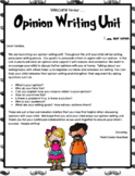 TC Opinion Writing Lesson Plans 3rd Grade
