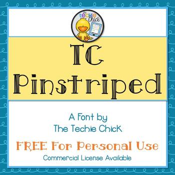 TC Pinstriped font - Personal Use