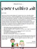 TC Poetry Lesson Plans 2nd Grade