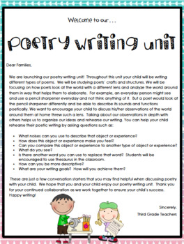TC Poetry Writing Workshop Grade 2 ENTIRE UNIT Lesson Plan