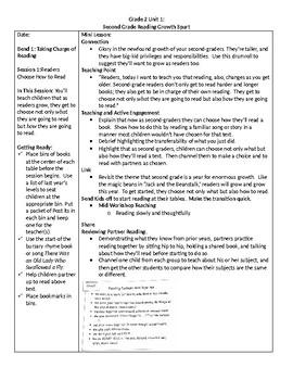 TC Grade 2 Unit 1 Reading Growth Spurt Lesson 1