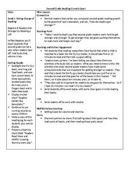TC Grade 2 Unit 1 Reading Growth Spurt Lessons 1-3